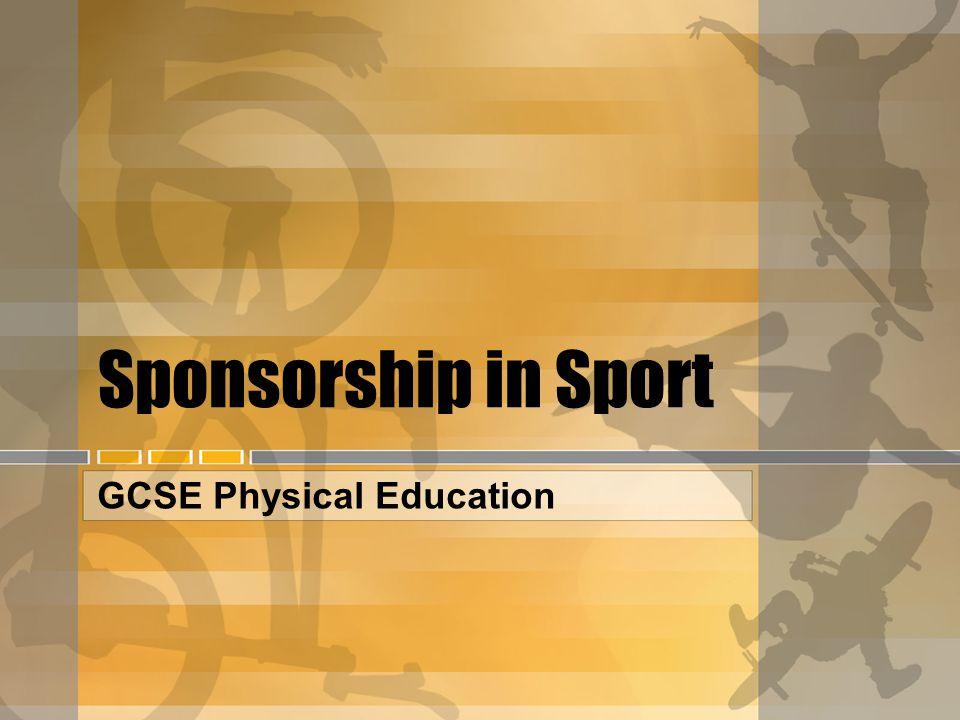 Sponsorship in Sport GCSE Physical Education