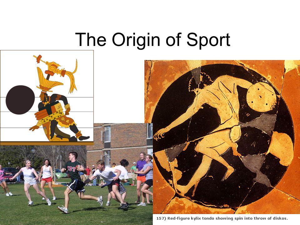 Sansones definition of sport: ritual sacrifice of physical energy (pg.