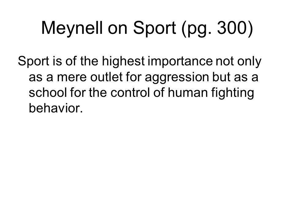 Meynell on Sport (pg.