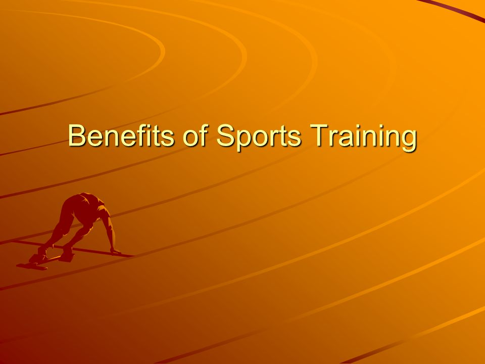 Benefits of Sports Training
