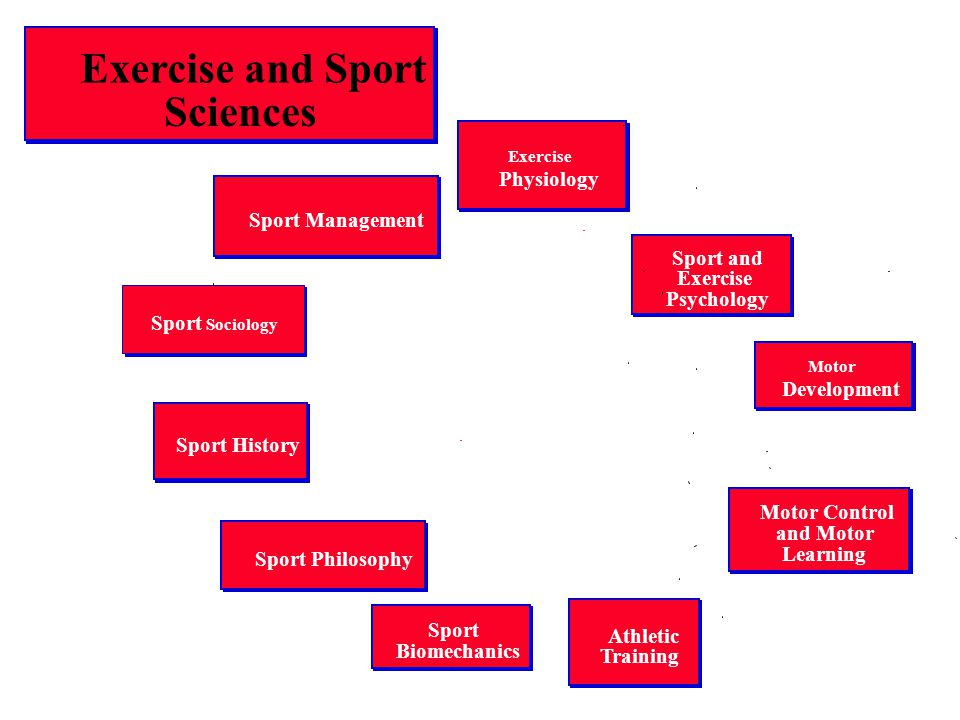 Exercise and Sport Sciences Exercise Physiology Sport and Exercise Psychology Sport Biomechanics Motor Control and Motor Learning Motor Development Sp