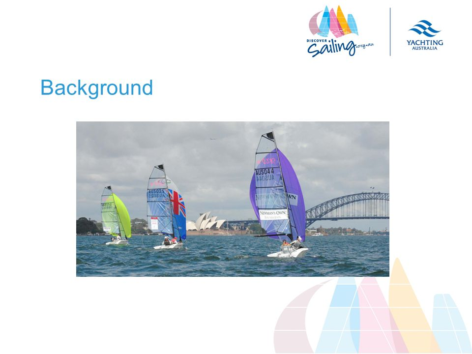 Summary Neil – Chair Sailability Australia Committee we are all here to increase the opportunities for people to have a great time sailing this conference is for the major players to create forward movement in a uniform way Hamish – Australian Sports Commission there is huge potential for sailing the Australian Sports Commission is helping major sports increase participation, international success and sustainability, but they are accountable