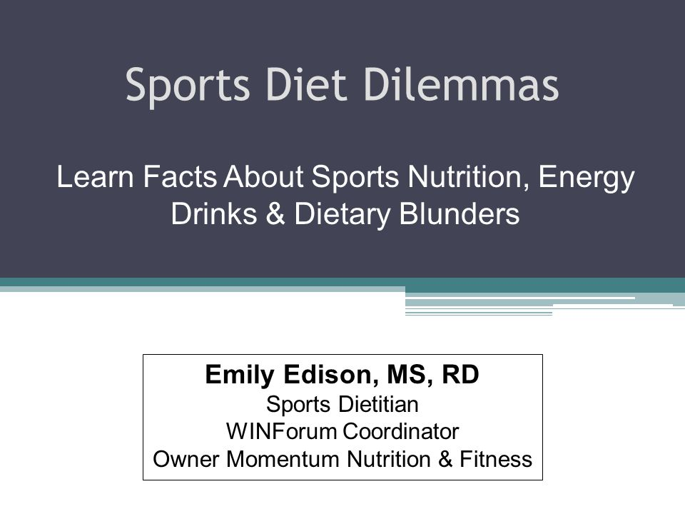 2 Since 2003 the WINForum has conducted objective nutrition clinics & provided sports nutrition information taken questions from student athletes and provide credible responses from objective registered dietitians.