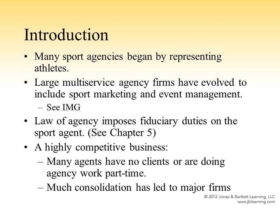 History of Sport Agency Industry C.C.