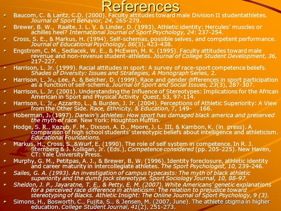 References Baucom, C. & Lantz, C.D. (2000).