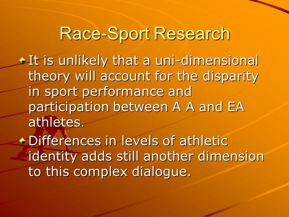 Athletic Identity The degree to which an individual identifies with the athletic role.
