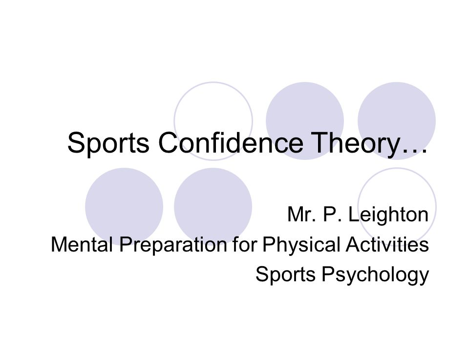 Sports Confidence Theory… Mr.P.