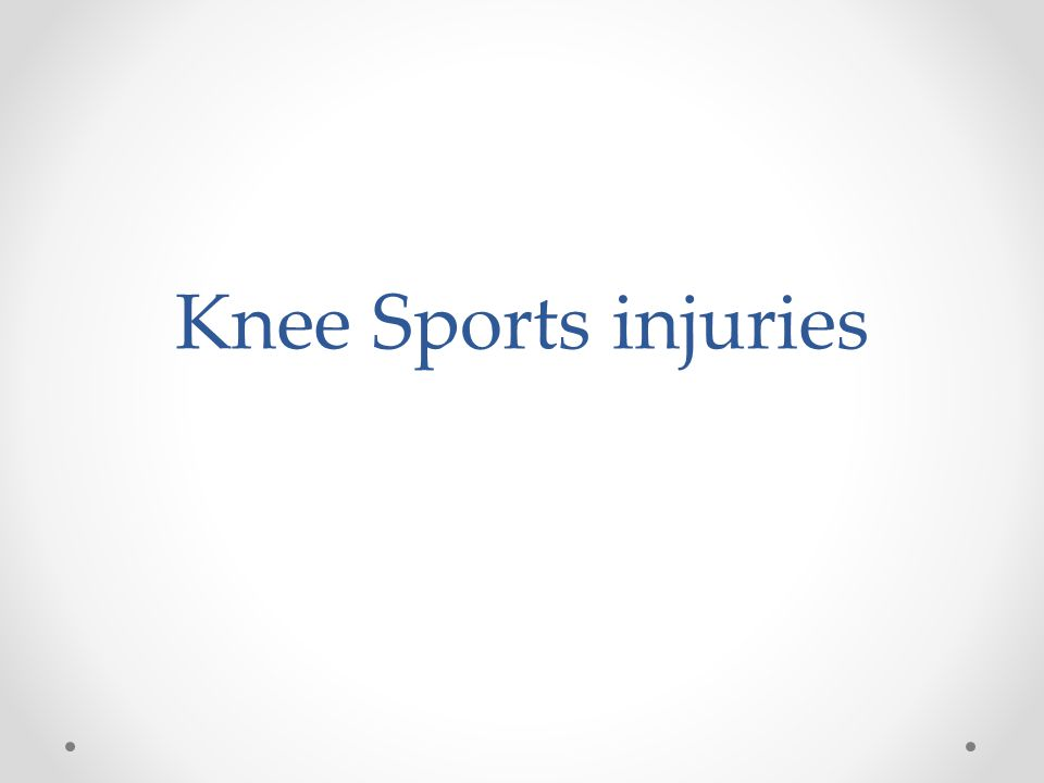 Knee Sports injuries