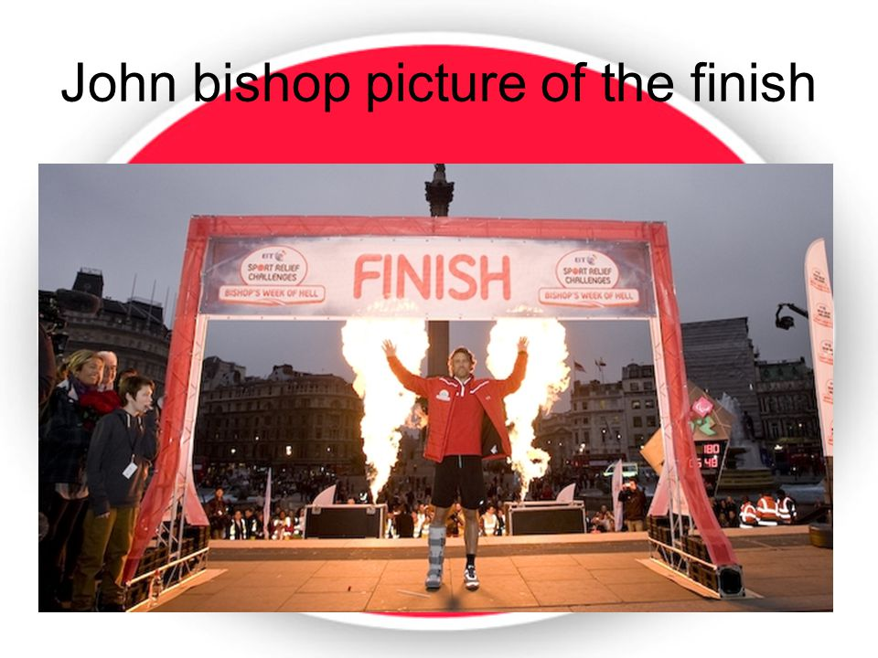 John bishop picture of the finish