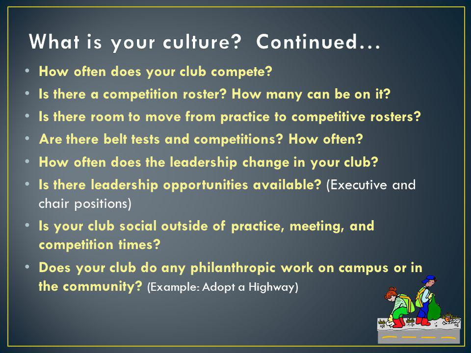 How often does your club compete. Is there a competition roster.