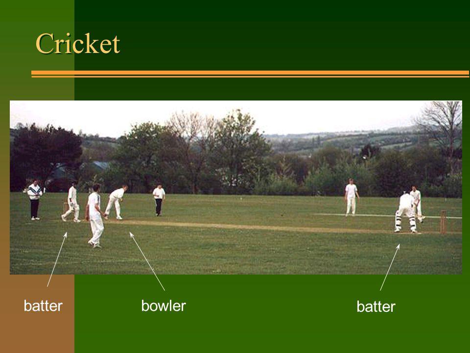 Cricket batter bowler