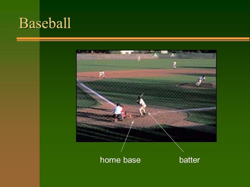 Baseball batter home base