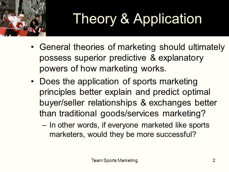 Team Sports Marketing13 Geographic Distribution: Static vs.