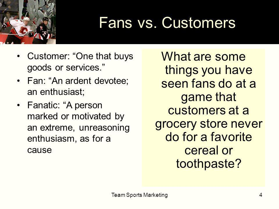 Team Sports Marketing5 Fans vs.