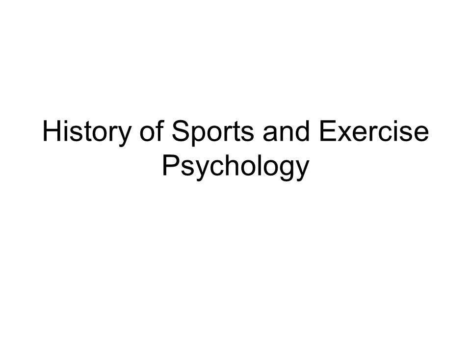 Period 1 The Early Years (1895-1920) 1897: Norman Triplett conducts the first social psychology and sport psychology experiment, studying the effect of other on cyclists performance.