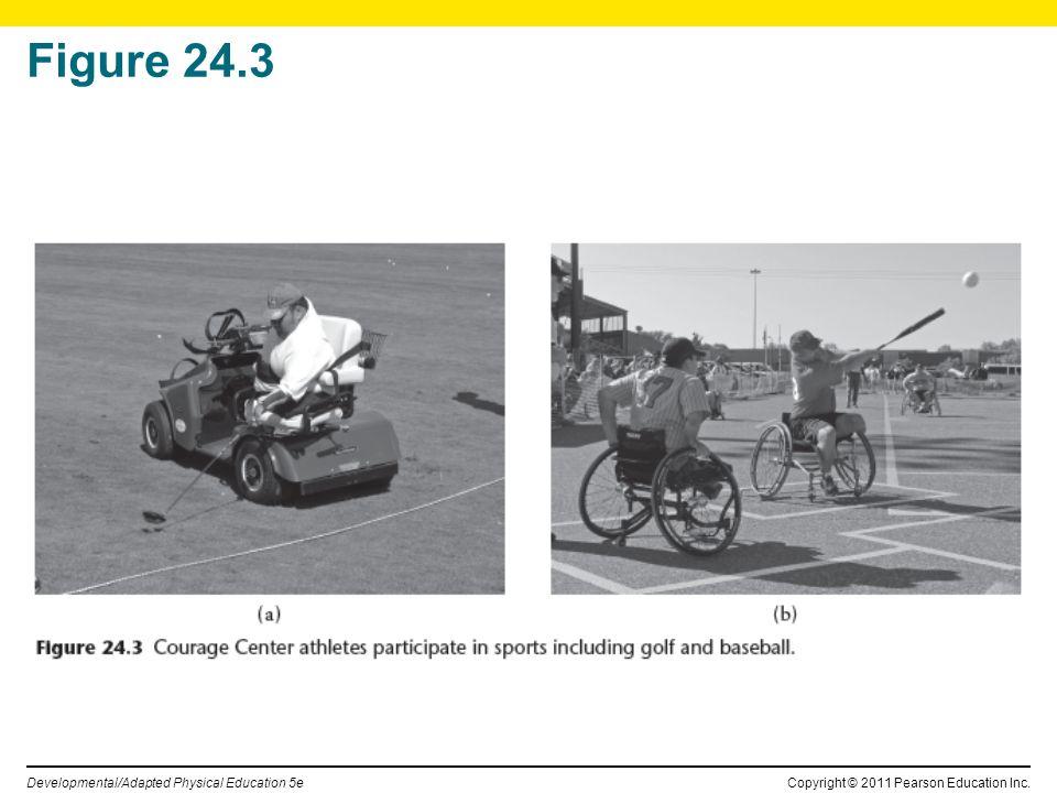 Copyright © 2011 Pearson Education Inc. Developmental/Adapted Physical Education 5e Figure 24.3