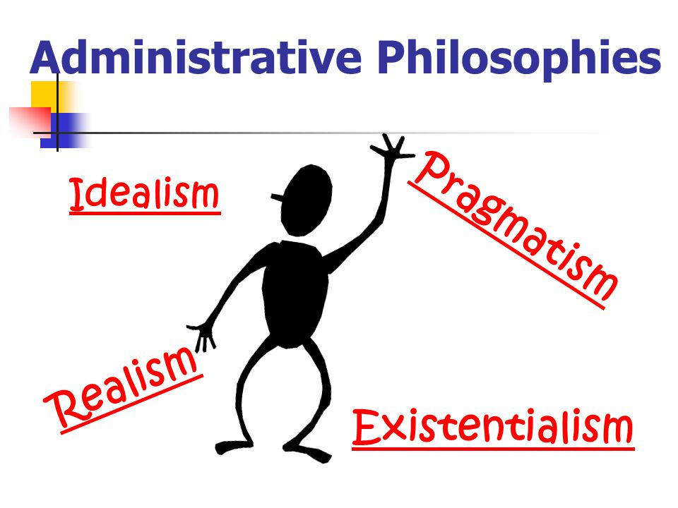Administrative Philosophies Idealism Realism Pragmatism Existentialism
