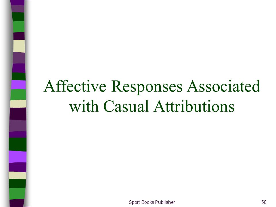 Sport Books Publisher58 Affective Responses Associated with Casual Attributions
