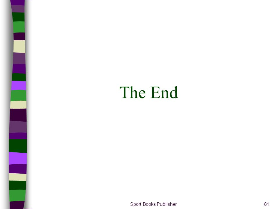 Sport Books Publisher81 The End