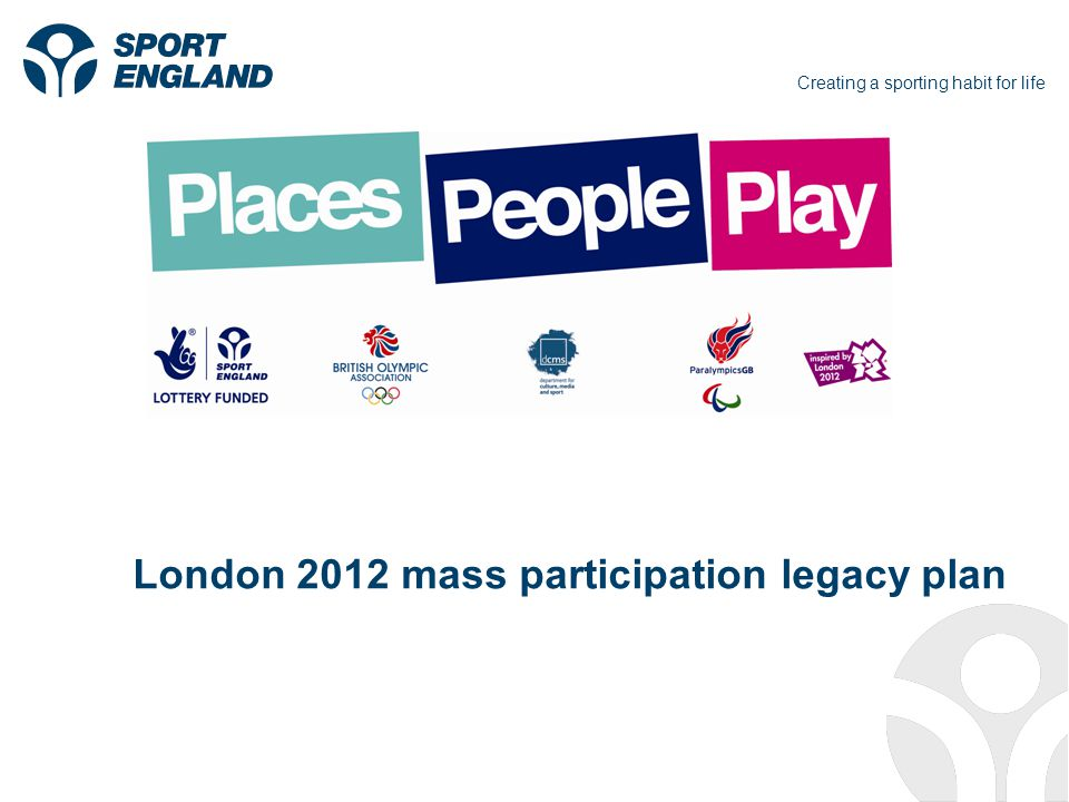 Creating a sporting habit for life London 2012 mass participation legacy plan