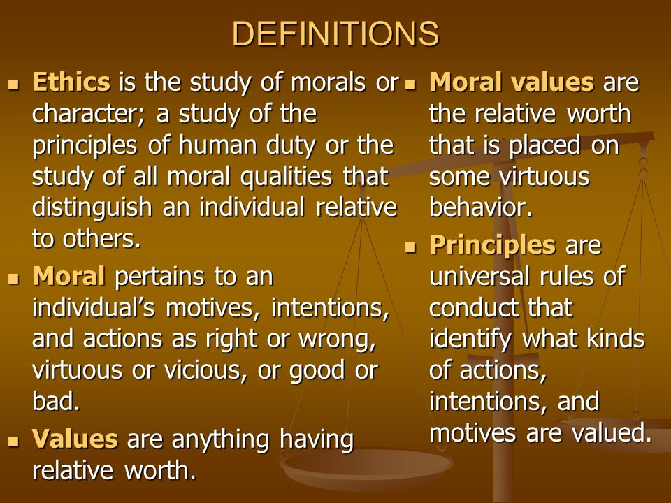 MORAL REASONING PROCESS Moral Reasoning is the systematic process of evaluating personal values and developing a consistent and impartial set of moral principles by which to live.