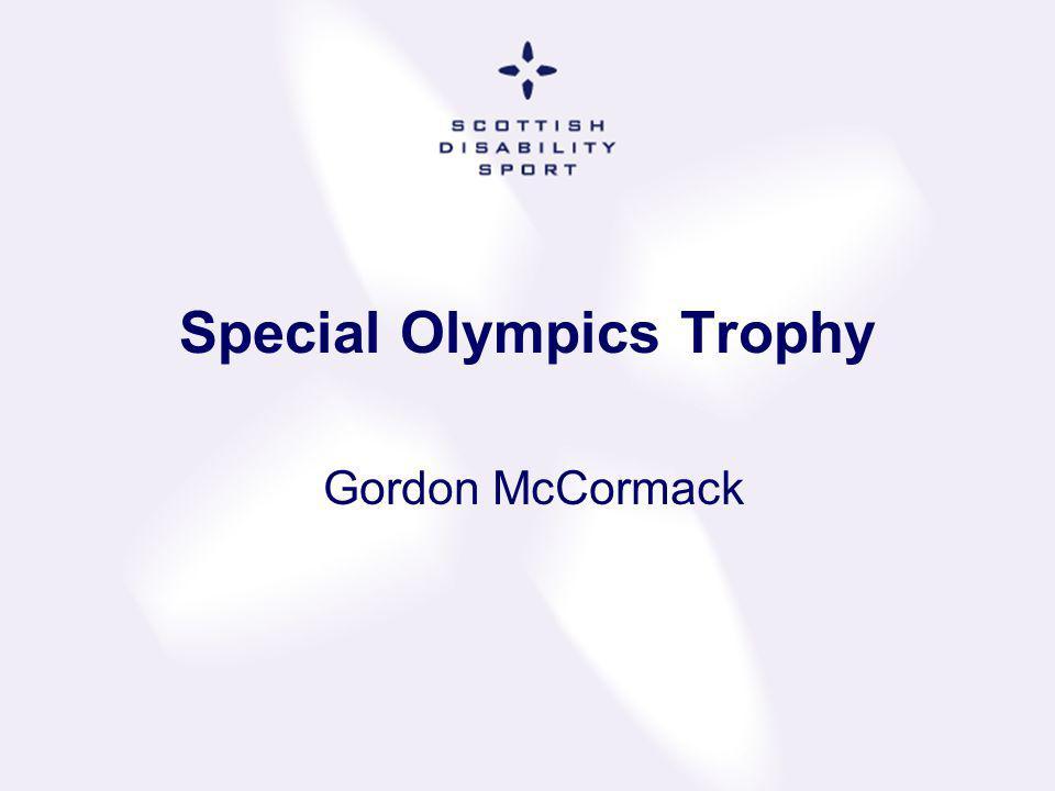 Special Olympics Trophy Gordon McCormack