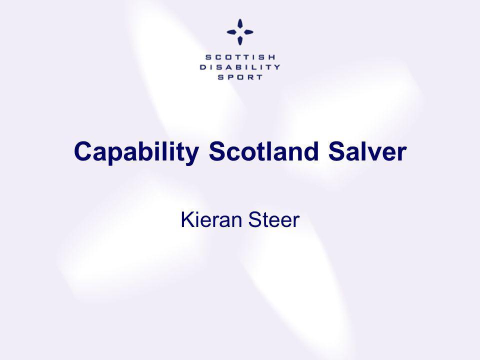 Capability Scotland Salver Kieran Steer