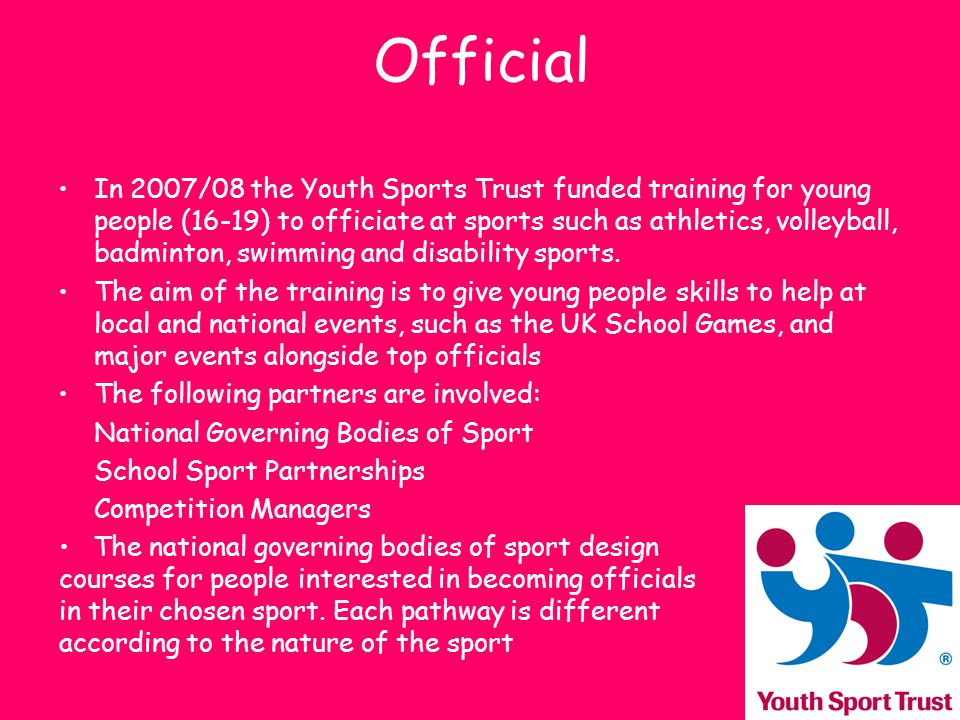 Coaching Sports Coach UK is a charitable organisation concerned with coaching Set up the UK Coaching Framework to support children, adults and players and athletes with skilled coaches.