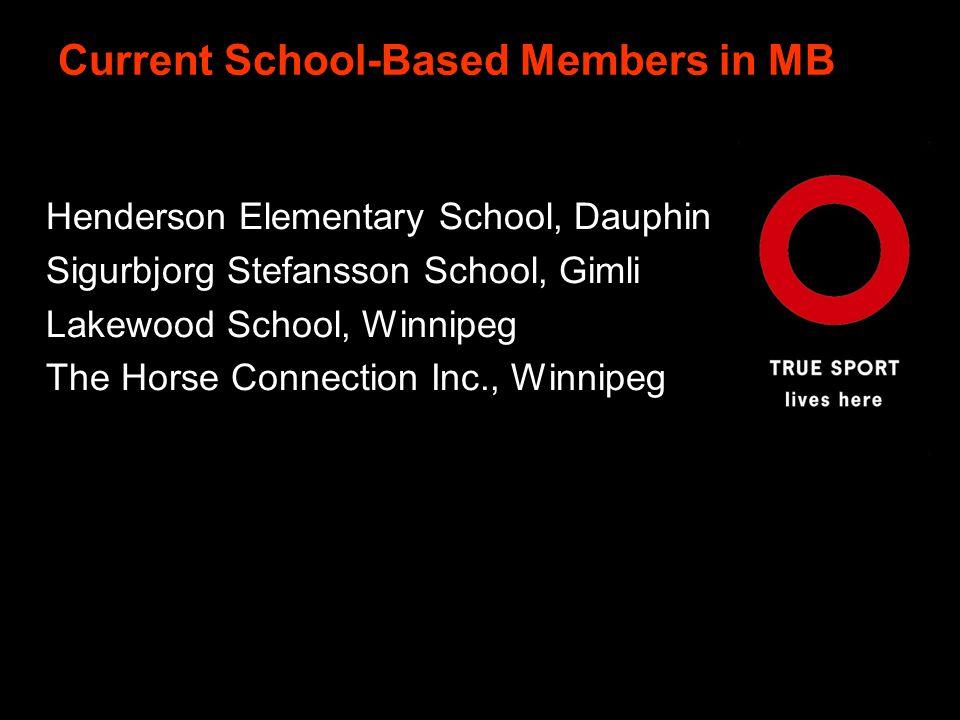 Current School-Based Members in MB Henderson Elementary School, Dauphin Sigurbjorg Stefansson School, Gimli WebWeb Lakewood School, Winnipeg The Horse Connection Inc., Winnipeg