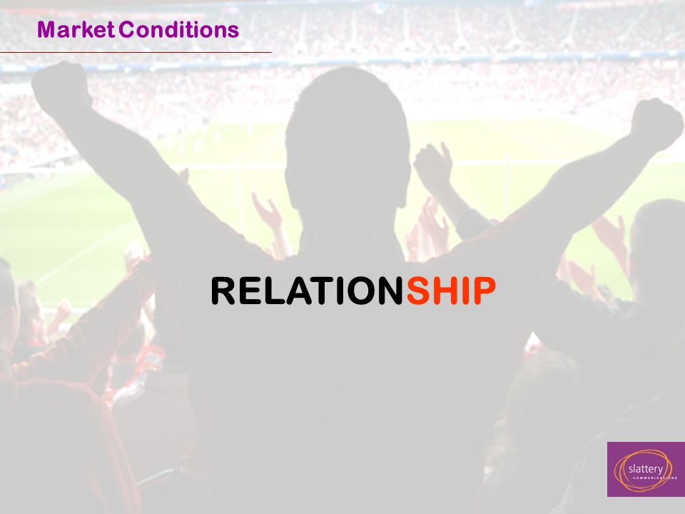 RELATIONSHIP Market Conditions