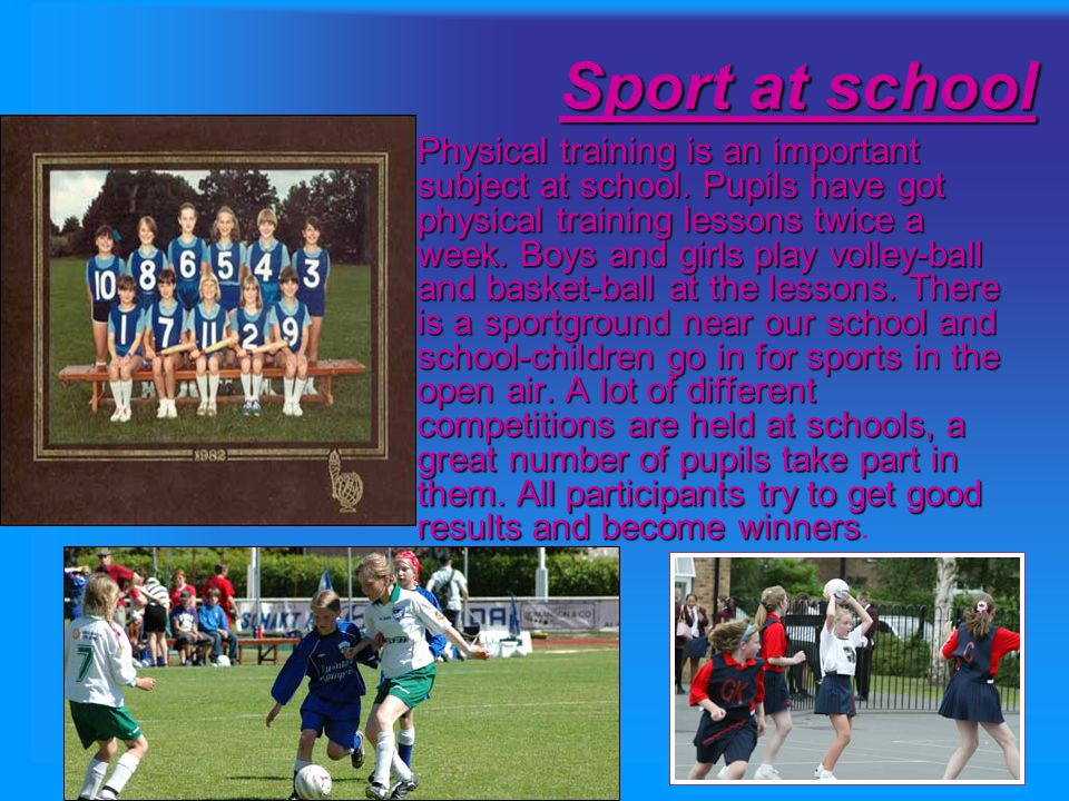 Sport is very important in our life.It is popular among young and old people.