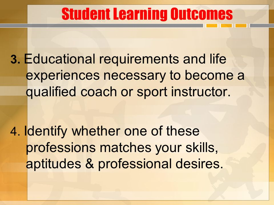 Student Learning Outcomes 3.