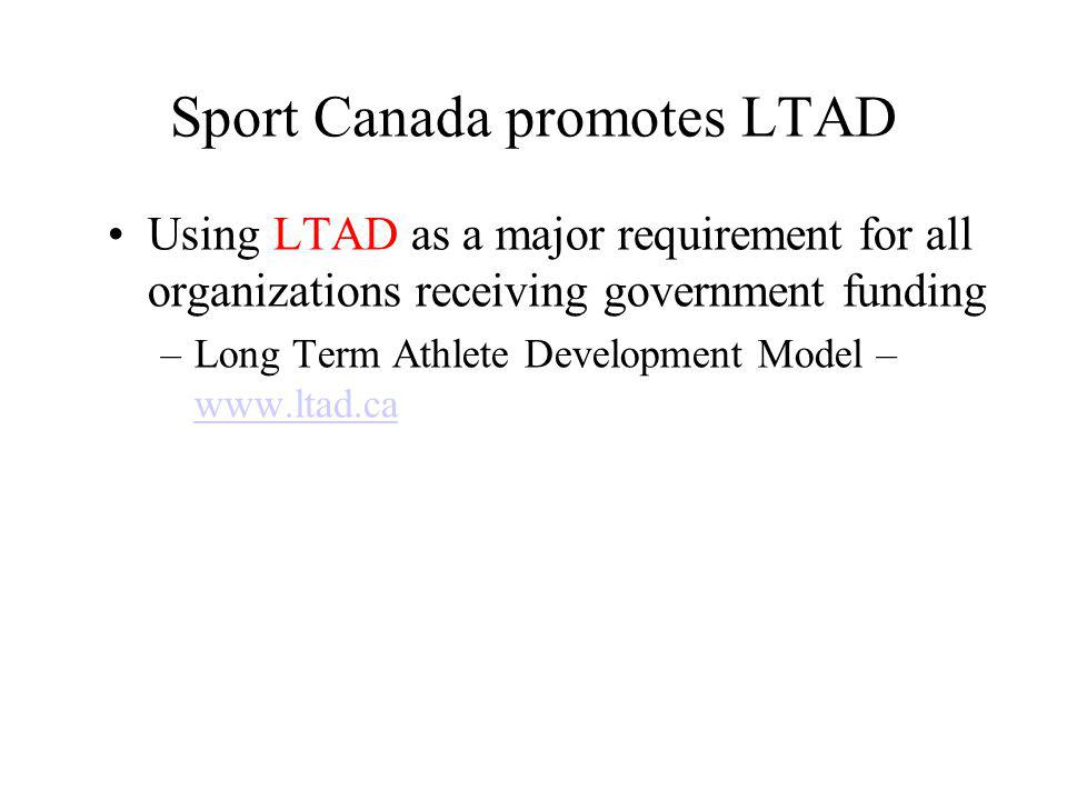 National Sport Organizations Non-profit voluntary sport organizations Primarily concerned with elite athlete development Organization of national teams to compete internationally Coach education through CAC/NCCP Work with PSOs on programming