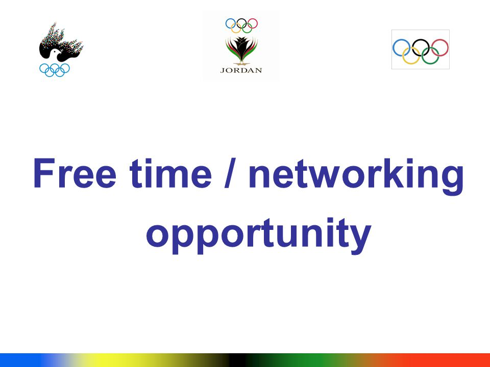 Free time / networking opportunity