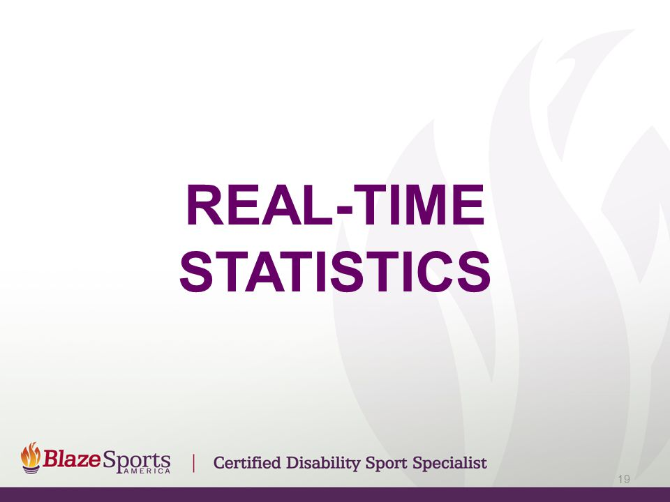 REAL-TIME STATISTICS 19