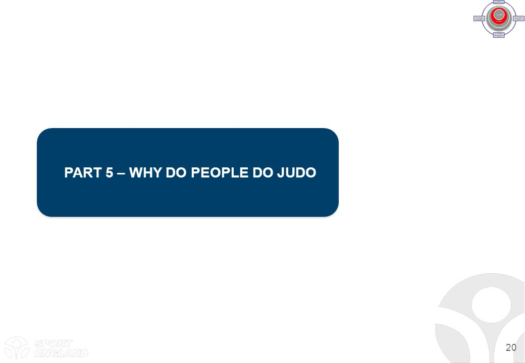 20 PART 5 – WHY DO PEOPLE DO JUDO