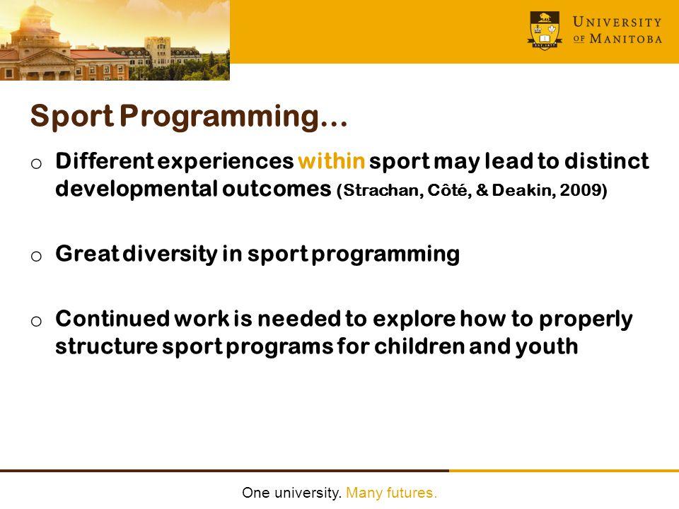 One university.Many futures.