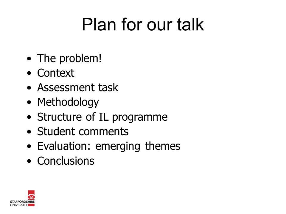 The problem.ELICS: Level 1 Core Study skills based module.