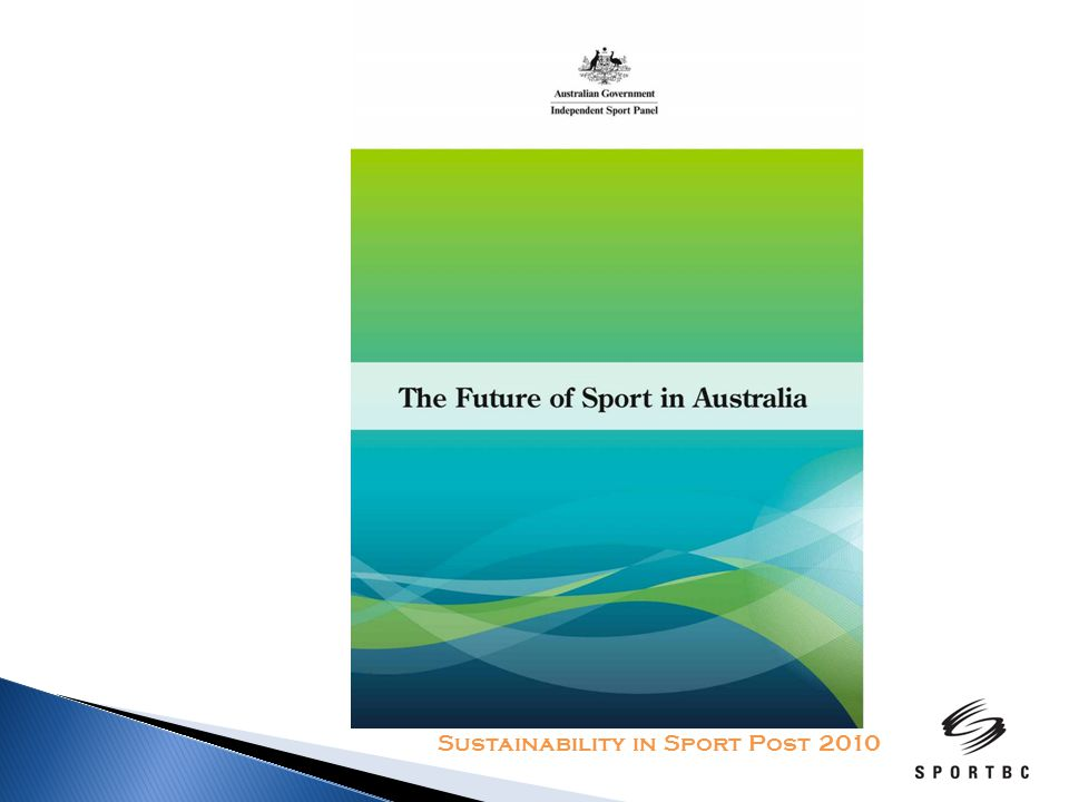 Common themes from community consultations Access to public sporting facilities Sport in the education system Changing nature of volunteerism Sporting Pathways and Talent Identification Funding and Sponsorship Sustainability in Sport Post 2010