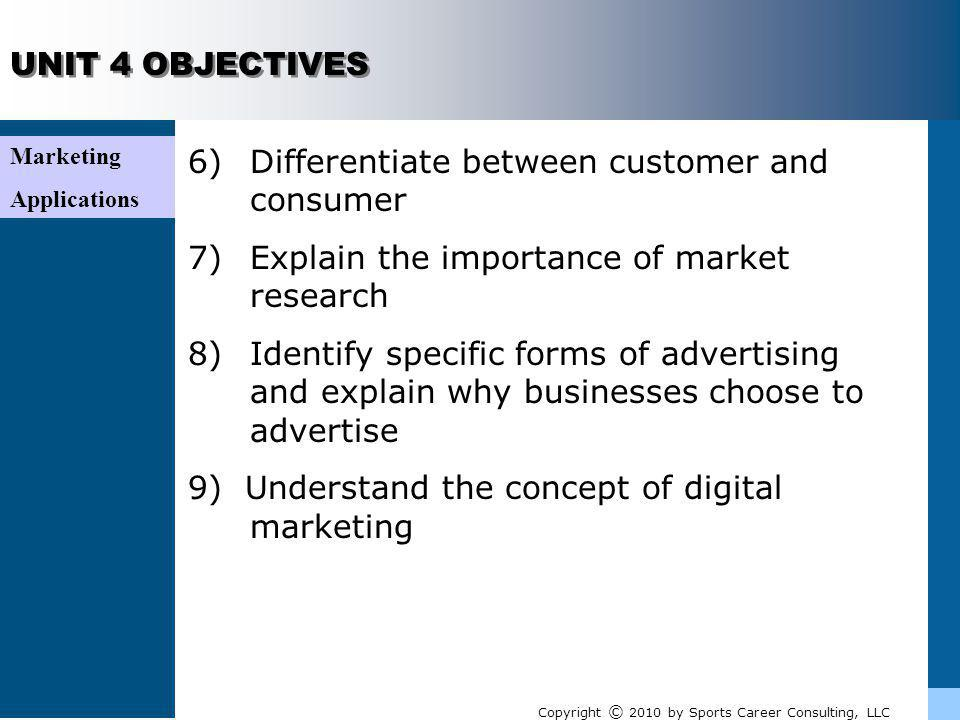 Marketing Applications UNIT 4 REVIEW (ANSWERS) 9)Understand the concept of digital marketing Todays consumer is more cognizant of the marketing messages all around them, leaving them more likely to tune out advertisements or other forms of marketing communication.