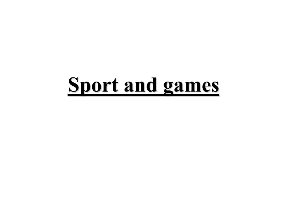 Sport includes all kinds of physical activities that help people to keep fit physically and mentally.