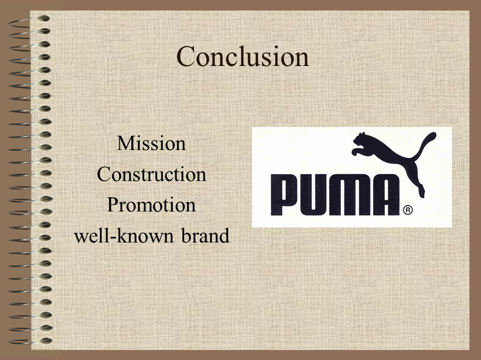 Conclusion Mission Construction Promotion well-known brand