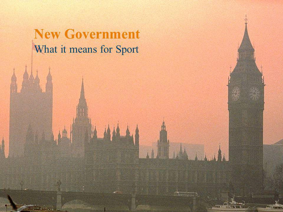 2 Creating sporting opportunities in every community Announcements Ministerial appointments Coalition agreement published Whitehall savings Queens speech