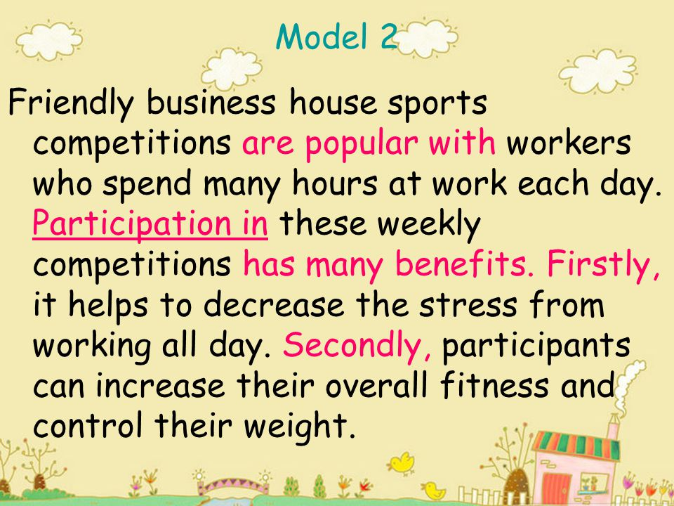 In addition, weekly exercise enables workers to avoid health problems such as heart disease, diabetes and high blood pressure.
