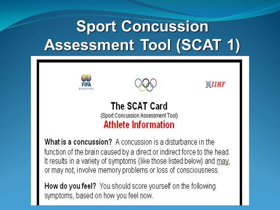 Sport Concussion Assessment Tool (SCAT 1)