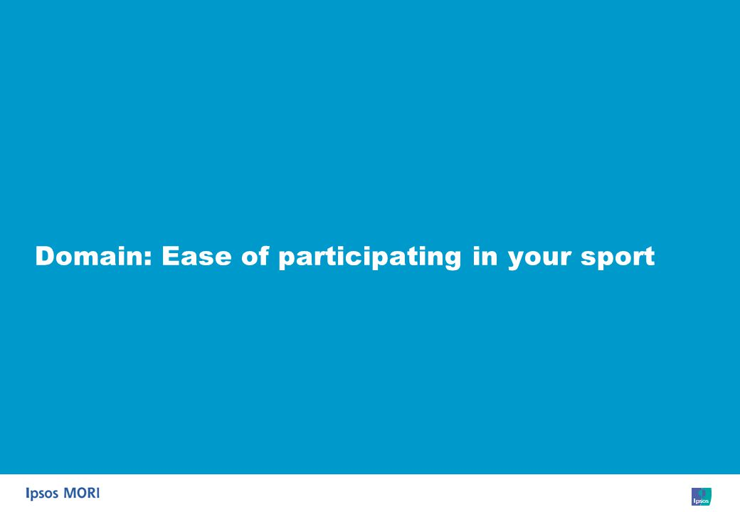 45 Domain: Ease of participating in your sport