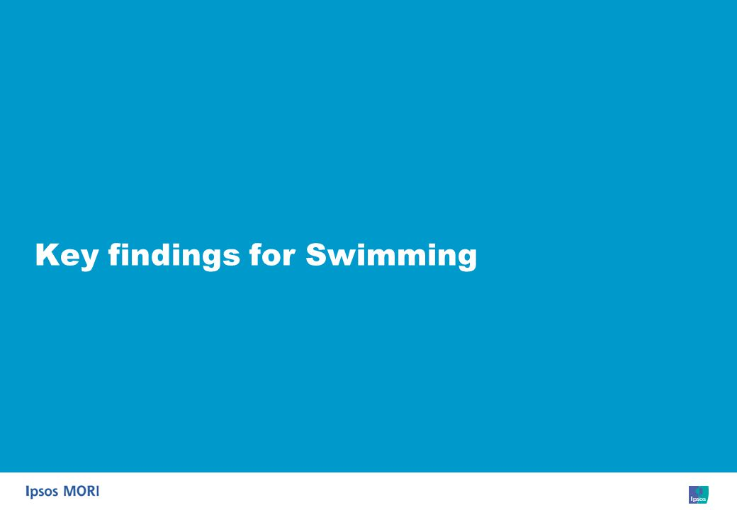 5 Key findings for Swimming