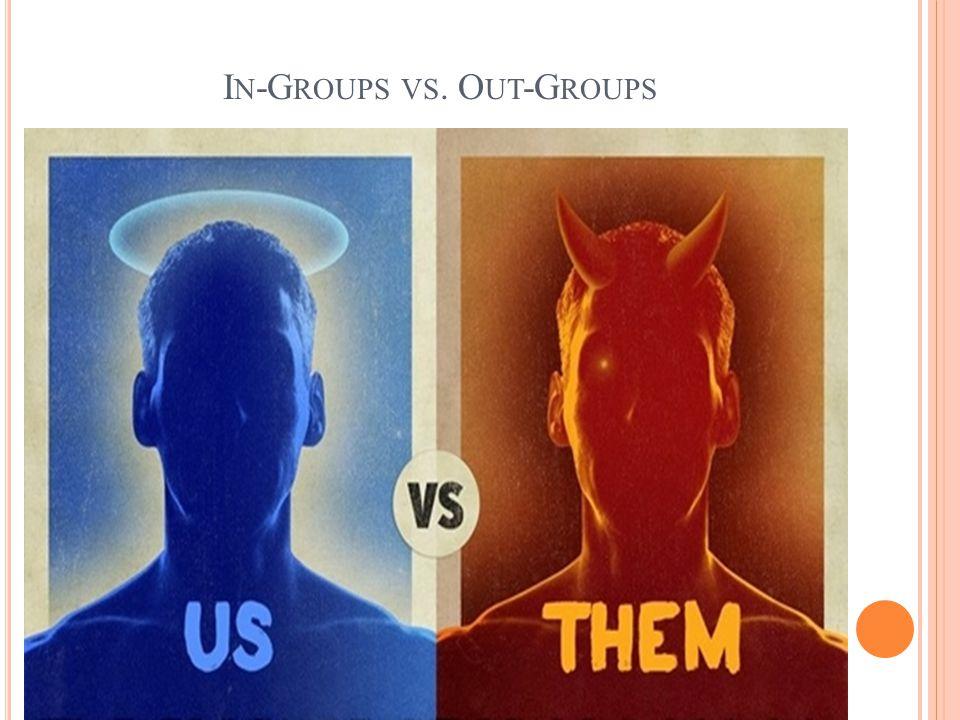 I N -G ROUPS VS. O UT -G ROUPS