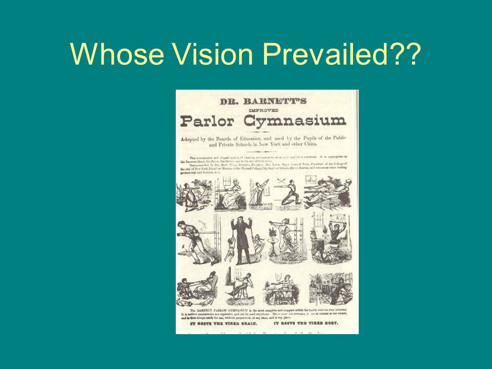 Whose Vision Prevailed