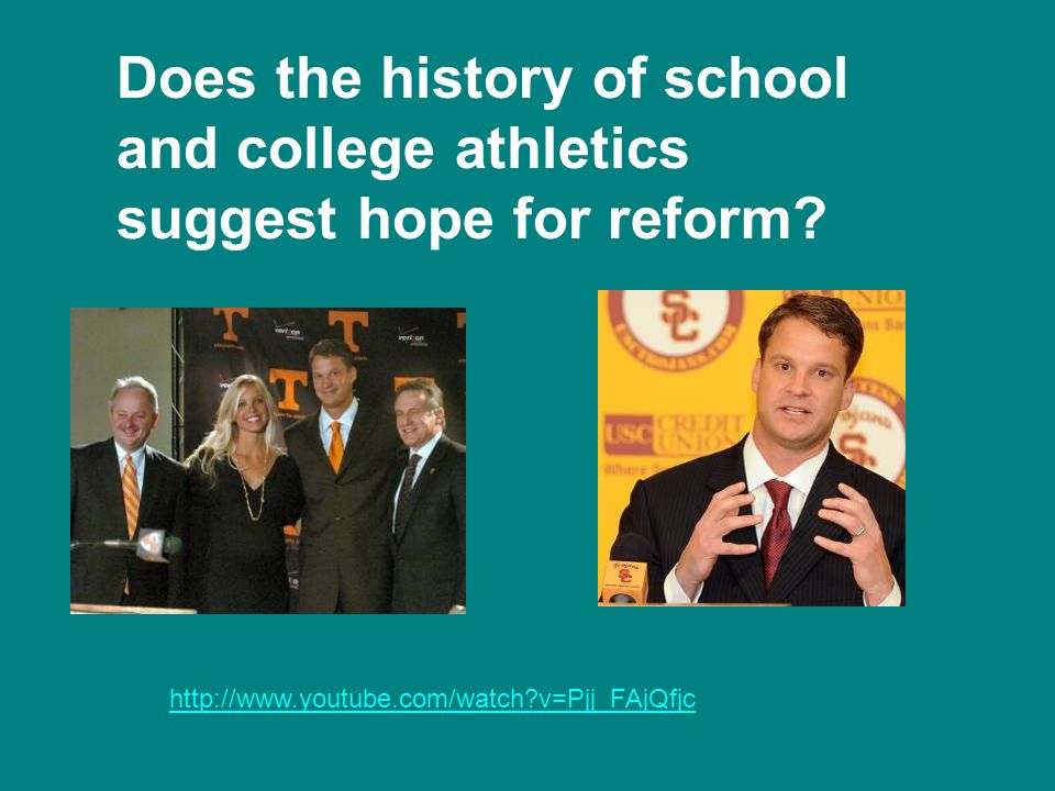 Does the history of school and college athletics suggest hope for reform.